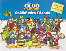 Disney Club Penguin Chillin' with Friends Paperback  4 postcards still attached