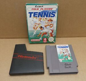 Four Player Tennis Nintendo Entertainment System NES Game + Manual
