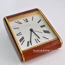 luxus4life: Cartier 8 Days Clock, Luxor, Tank-Motiv, Pultuhr, Strauß + Messing
