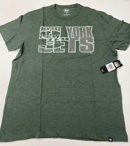 $38 NWT New York Jets 47 Brand Heather Green Tee T shirt NY City Logo nfl XL