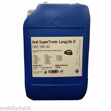 20 Liter ARAL SUPERTRONIC LONGLIFE III 5W-30 | ACEA C3,VW 50400/50700 Motorenöl