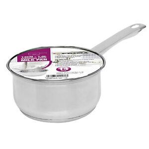 Prima 1 Litre / 14cm Stainless Steel Milk Pan Saucepan
