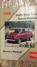 1988 Light Duty Truck Safari Models Service Manual