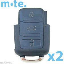 2 x Volkswagen VW Passat Jetta 3 Button Remote Key Bottom Shell/Case/Enclosure