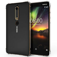 Nokia 6 2018 Silicone TPU Gel Case Best Tough Edge Protection Phone Cover UK
