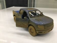 "Kinsmart 5"" Ford F-150 SVT Raptor SuperCrew Muddy Diecast Model Toy 1:46 Blue"
