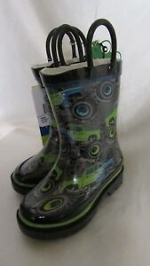 TODDLER  BOY`S WESTERN CHIEF  RAIN WATER PROOF BOOTS SIZE 5C NEW GREY
