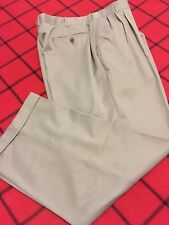COMOSPORT by COBRA GOLF MENS W 38 X 30 INSEAM  BEIGE NICE DRESS PANTS