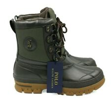 b4c8f405a8aef New ListingPOLO RALPH LAUREN Lowen Bo WPF Men's Leather Boots - Brown/Olive  - Size 10 - NEW