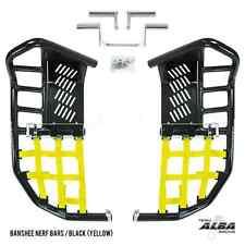 Yamaha Banshee YFZ 350  Nerf Bars  Pro Peg  Alba Racing   Black/Yellow 207-T7-BY