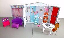 Barbie Totally Real Smart Fold Up House Sounds Food Furniture  Mattel Lot F3