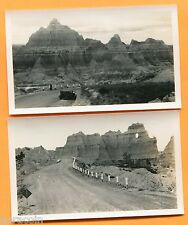 Badlands, SD, 14 Real Photos in Brown Envelope by Canedy's Camera Shop