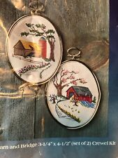 New listing Creative Expressions Country Farm Barn & Bridge Embroidery Crewel Kit 1452