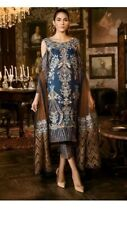 Pakistani indian UNSTITCHED FABRIC Chiffon Net embriodered LIMITED TIME OFFER