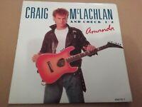 "CRAIG McLACHLAN AND CHECK 1-2 * AMANDA * 7"" SINGLE 1990 EXCELLENT P/S"