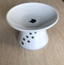 � Necochi Cat Water Or Feeding Dish. Ceramic Pedestal Bowl. 🆒�
