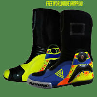 Rossi 46 REVOKO LEATHER RACING Motorbike Shoes Motorcycle Boots - 2016