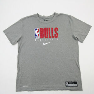 Chicago Bulls Nike NBA Authentics Nike Tee Short Sleeve Shirt Men's Gray Used