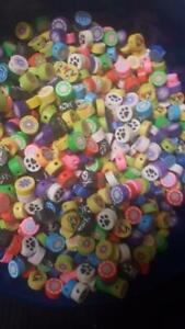 10mm Diameter Fimo coin Beads, Lot of 100, Asst designs