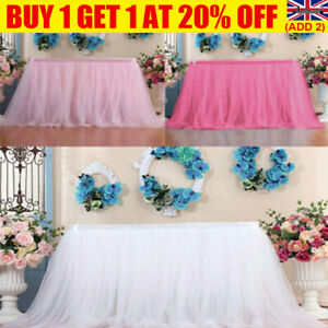 Tutu Tulle Table Skirt Fluffy Table Cloth Cover Wedding/Birthday/Party Decor UK