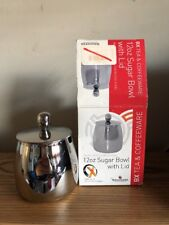 Grunwerg  Deluxe Stainless Steel Sugar Bowl With Lif 12 Oz