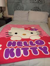 Hello Kitty Peeking Kitty Fleece Blanket NEW