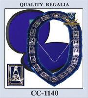 Masonic Silver Past Master Chain Collar + Case