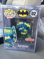 Funko Pop Batman Art Series IN HAND Blue & Yellow Figure 02 w/ Hard Case Target