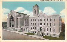Postcard First Baptist Church Amarillo Tx