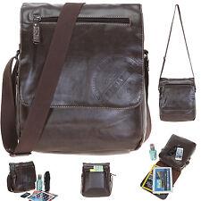 Tasche BESTWAY BRUCE Schultertasche Umhängetasche Kunstleder Vintage Bag BRAUN