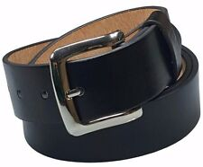 """Snap On Brown Leather Belt With Removable Silver Buckle Size M 33/""""-37/"""""""