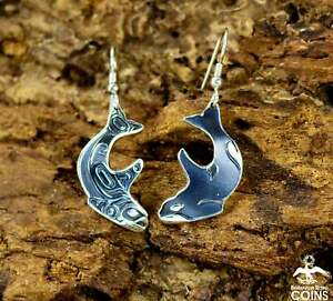 Southern Resident Tribute Odin Lonning MAG Sterling Silver Killer Whale Earrings