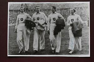 Ilse Dorffeldt Berlin Germany 1936 Olympic Games Athlete Signed postcard card