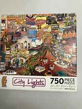 "CEACO City Lights Puzzle ""Las Vegas Gold II"" By Roxy 750 Pieces"
