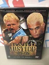 TNA Impact Wrestling Hard Justice 2005 DVD Jeff Jarrett Tito Ortiz AJ Styles WWE