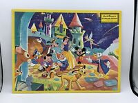 """Vintage Disney Inlaid """"TV Picture Puzzle"""" Frame Tray Puzzle - Jaymar"""