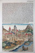 ÖSTERREICH AUSTRIA GERMANORUM PROVINCIA SCHEDEL CHRONIK INKUNABEL KOBERGER 1493