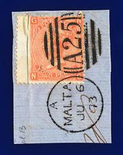 1872 Sg94 4d Vermilion Plate 13 J60 Ng Misperf Malta Ju 6 73 Gu Cat £75 cjnq