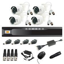 MX CCTV Camera Kit 4 Channel Analog System w/ Analog Camera DVR BNC DC pin -Set6
