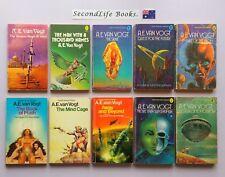 x10 Vintage A.E VAN VOGT Sci Fi Novels ~ Silkie Isher Future Atom Ptath. H
