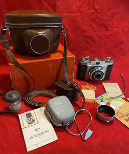 Zeiss Ikon Contina 35mm vintage film camera, Novar Anastigmat 3.5 47mm lens 1954