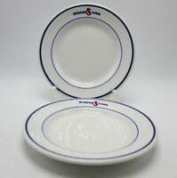 2 Sterling Vitrified China States Line Steamship Shipping Salad Plates L1 USA