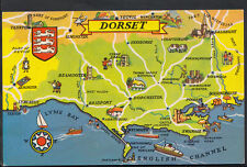 Maps Postcard - Map of Dorset and English Channel   RS1887