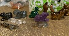 Small crystal or stone animal carving x 1