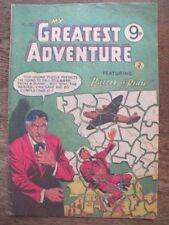 My Greatest Adventure #10 1956 - Vintage Australian Comic - Puzzle of Peril