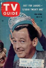 1957 TV Guide June 22 - TV's Western heroes; Jack Palance; Queen for a Day