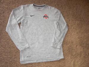 OHIO STATE BUCKEYES Nike Dri Fit long sleeve shirt men's Small