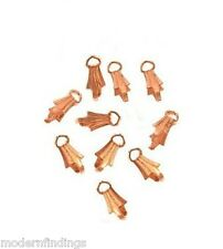 SOLID COPPER 10MM  36PCS.  PINCH BAIL WITH RING (GENUINE COPPER FINDINGS)