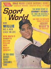 SPORT WORLD MAGAZINE  WILLIE MAYS   cover  April 1965   EXMT  Free shipping N.A.