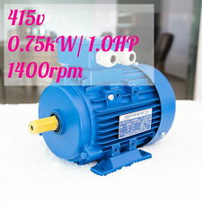 0.75kw 1.0HP  1400rpm shaft 19mm Electrical motor Three phase 415v LATHE Mixer